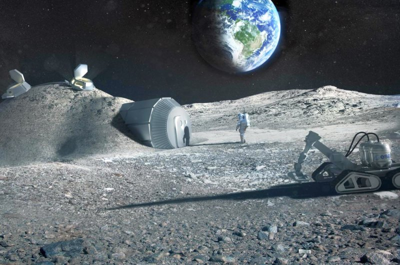 The urea in astronauts' urine can act as a plasticizer for the concrete used to build moon base structures. (Photo: ESA, Foster and Partners)